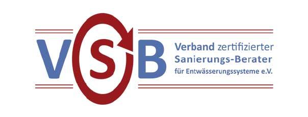 Logo VSB - Verband zertifizierter Sanierungs-Berater für Entwässerungssysteme e.V.